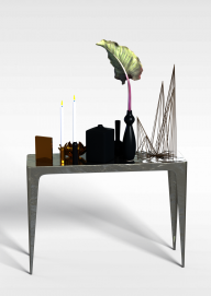 玄关几摆件组合3D模型