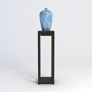 藍色精美花瓶模型3d模型