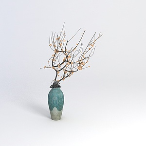 中式裝飾花瓶模型3d模型