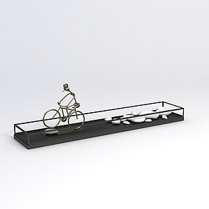 自行车鹅卵石工艺品模型3d模型
