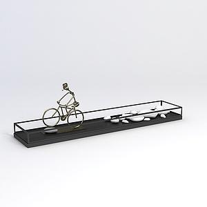 3d自行<font class='myIsRed'>车</font>鹅卵石工艺品模型