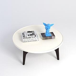 现代简约圆桌3d模型