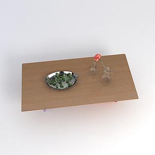 简约桌子摆件3d模型