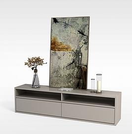 客厅电视柜3D模型