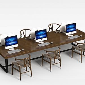 3d<font class='myIsRed'>办公桌</font>椅电脑组合模型