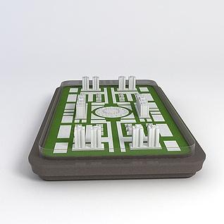 楼房沙盘3d模型3d模型