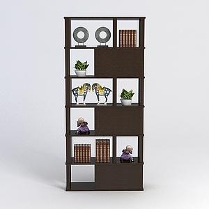 3d中式展示柜模型