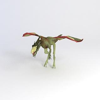 翼龙恐龙3d模型3d模型