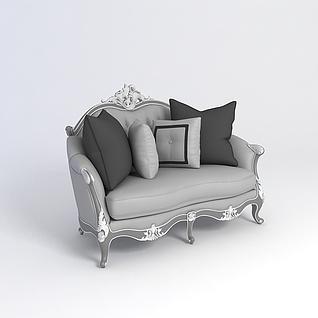 欧式单人沙发3d模型3d模型