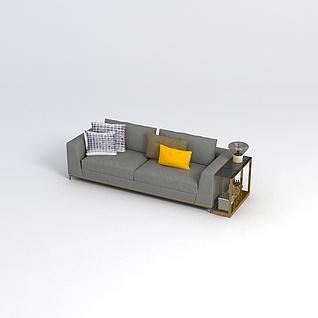 现代沙发边柜组合3d模型3d模型