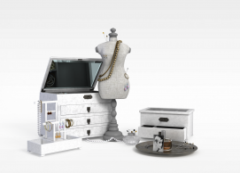 柜子抽屉珠宝组合3D模型