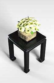 中式方桌花艺组合3D模型