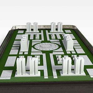 楼房沙盘模型3d模型