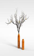 3D盆景花艺模型3d模型