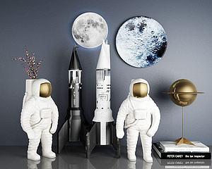 宇航员装饰3d模型