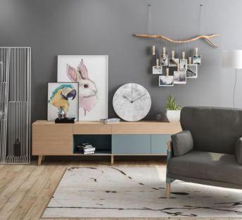 北欧创意照片墙装饰柜组合