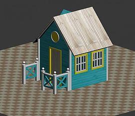 积木房子模型