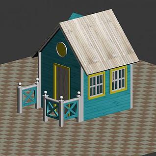 积木房子3d模型