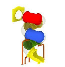 儿童滑梯游乐设备模型