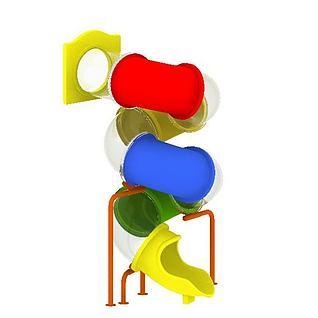 儿童滑梯游乐设备3d模型