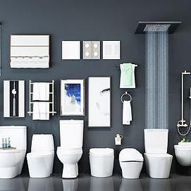 卫生间卫浴组合模型