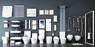 卫生间卫浴组合模型3d模型
