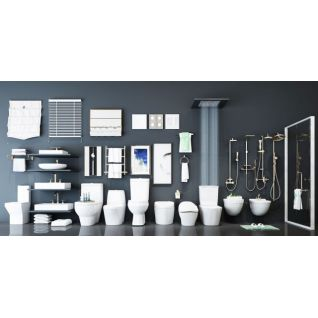 卫生间卫浴组合3d模型