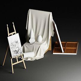 素描画板模型
