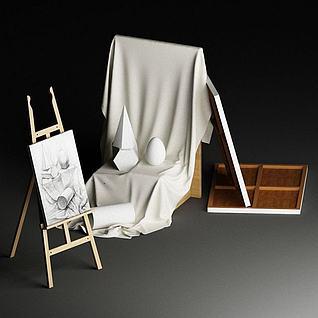 素描画板3d模型