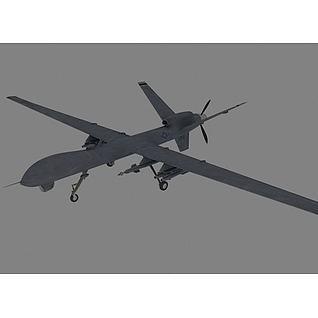 军用无人机3d模型