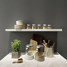 厨房玻璃收纳罐3D模型3d模型