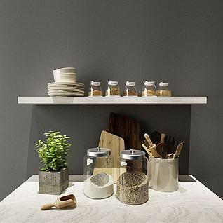 厨房玻璃收纳罐3d模型