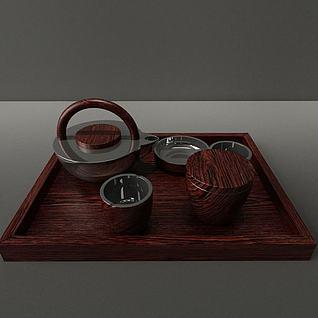 现代茶具模型3d模型