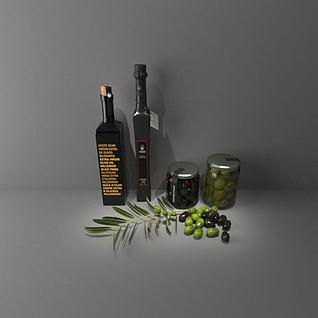橄榄油3d模型