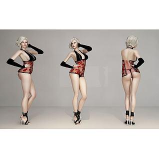 美女模特3d模型