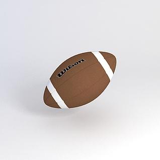 橄榄球3d模型3d模型