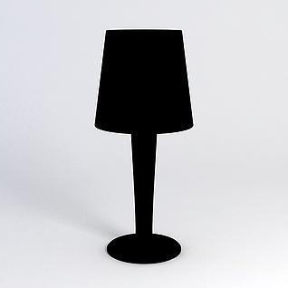 黑色简约台灯3d模型