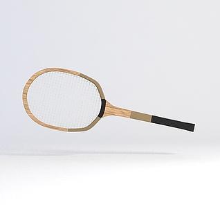 羽毛球拍3d模型