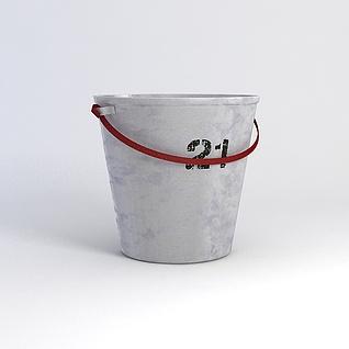 复古铝桶模型3d模型