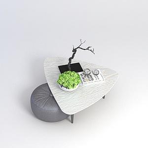 休闲茶几沙发?#39318;?#21512;模型