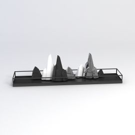 3d石头<font class='myIsRed'>假山</font>摆件模型
