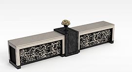 大理石电视柜3D模型