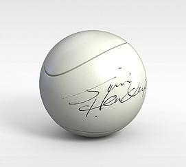 签名网球模型