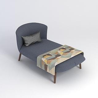 单人床3d模型3d模型