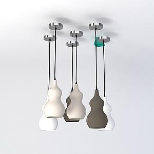 葫芦形吊灯模型