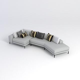 拐角沙发3d模型