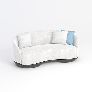 月亮型沙发3d模型3d模型