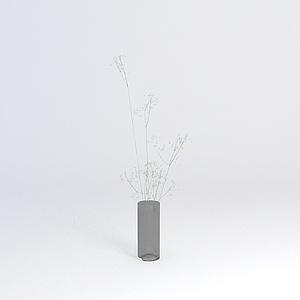 玻璃杯花束模型3d模型