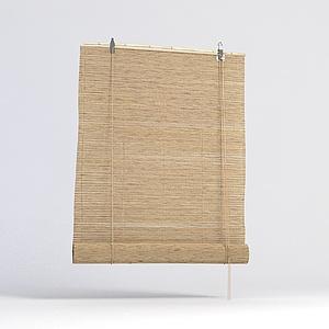 日式卷帘模型