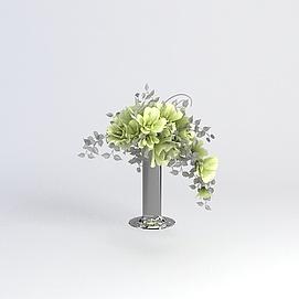 花卉装饰模型